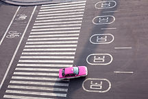 coche rosado