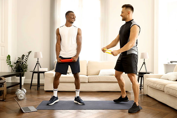 Friends Exercising Together