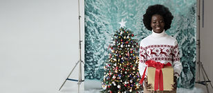 Christmas Studio Portrait
