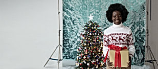 Christmas Studio Portrait