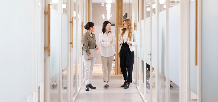 Colleagues in Hallway