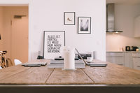 Wood Table Work Space
