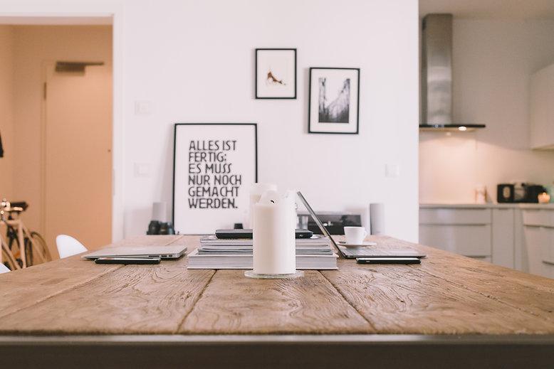 Mesa de madera espacio de trabajo