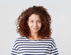 Young Woman with Curly Hair