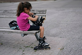 Girl with Rollerblades