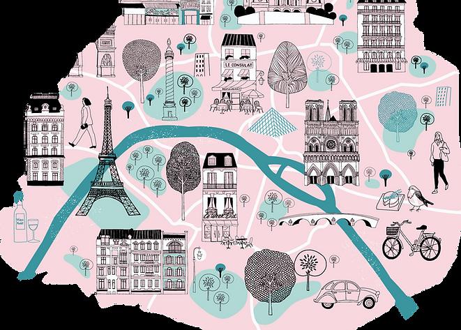 Map of Paris