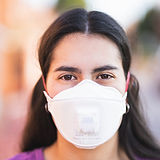 Woman with a Face Mask
