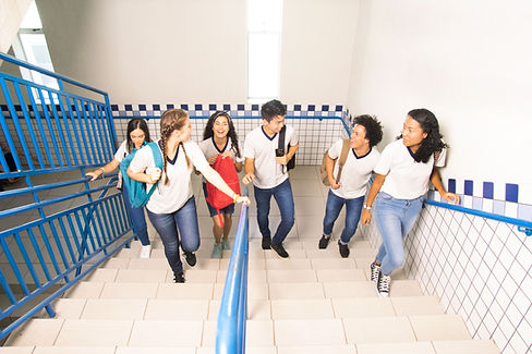 Students Going Upstairs