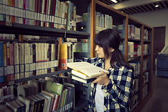 Library Book Studying