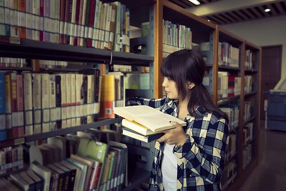 Étude de livre de bibliothèque