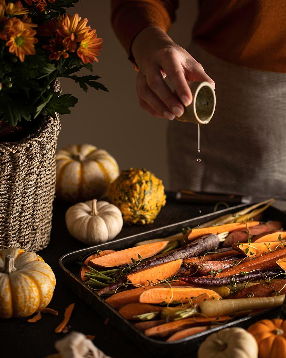 verduras asadas zanahorias calabaza asada