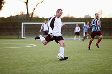 Senior Fußballspiel