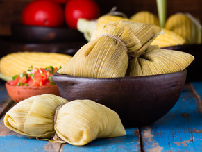 Sweet corn tamale