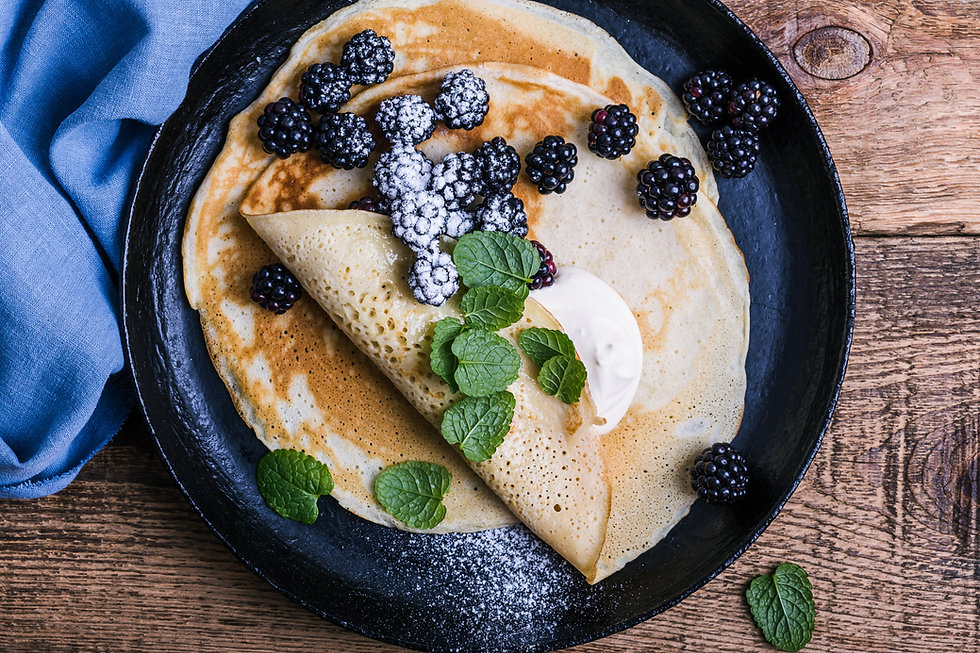 Crepes and Blackberries