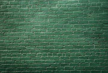 Groene Bakstenen Muur