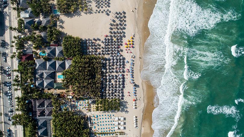 ชายหาดแออัด
