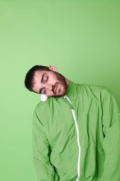 Man in Green Jacket