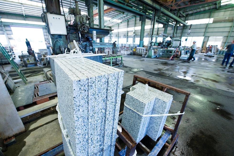 石材加工工場