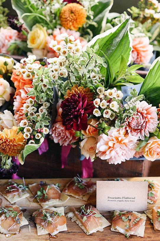 Flowers and Appetizers