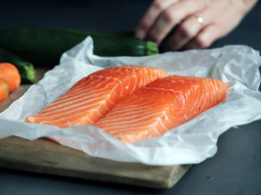 Wild-Caught Atlantic Salmon with Sugar Snap Peas and Brown Rice Pilaf