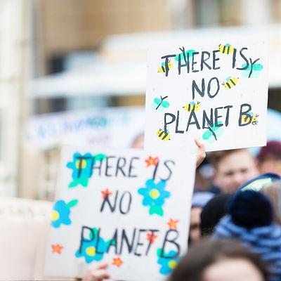 Klimawandel-Banner