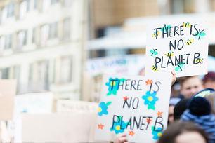 Bannières sur le changement climatique