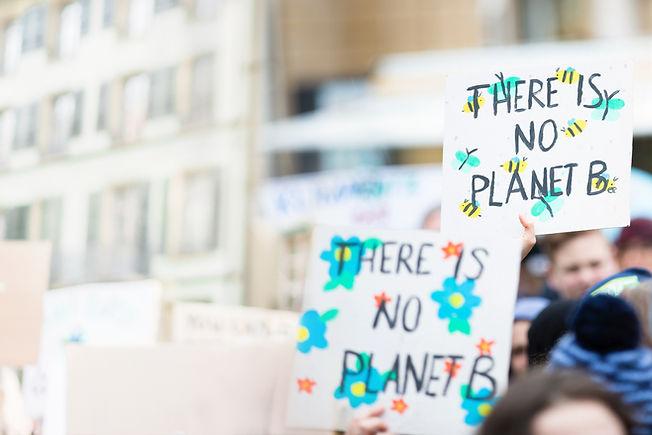 Banners sobre mudanças climáticas