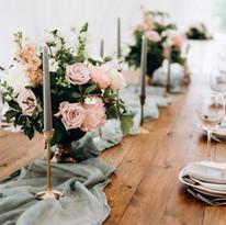 Arrangement de table de mariage
