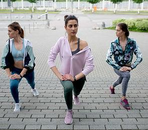 Fitnesskurs im Freien