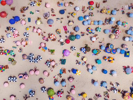 Qual a lotação das várias praias de Portugal Continental?