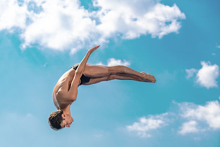 Young Man Diving
