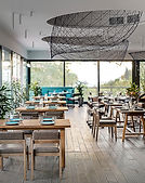 Stilvolles modernes Café