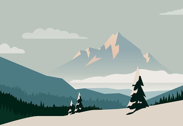 Mountain Illustration Vancouver Canada