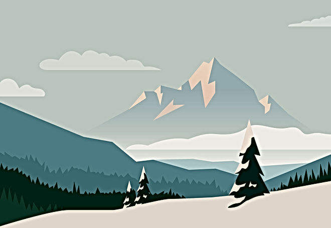 Illustrated Mountains
