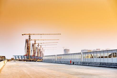 Row of Cranes