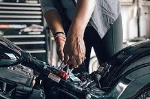 Motocicleta de reparação mecânica
