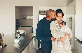 Famille dans la cuisine