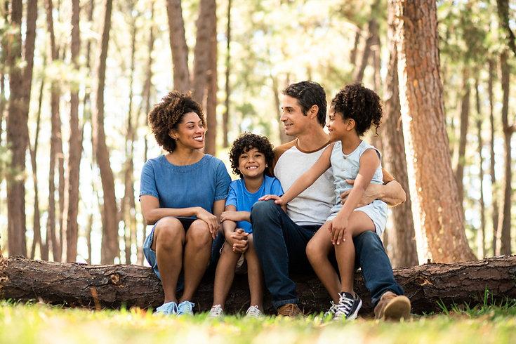 自然の中の家族