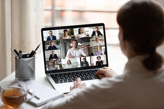 Reunião da equipe virtual