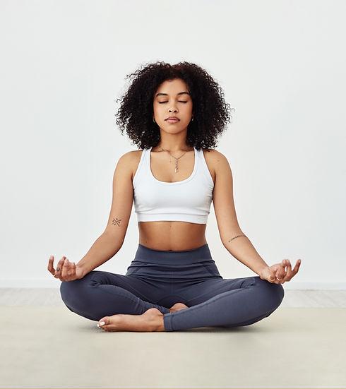 woman meditation in a studio