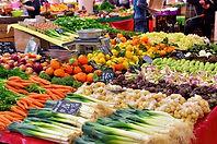 carrinho de vegetais