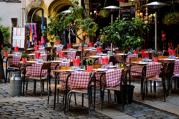 Outdoor Restaurant Area