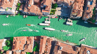 Venice Grand Canal Aerial