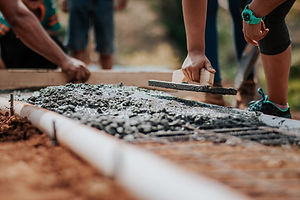 Pavimentação de cimento