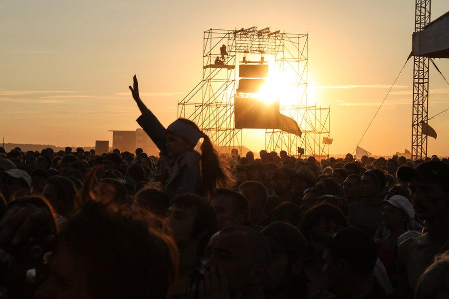 Show ao pôr do sol