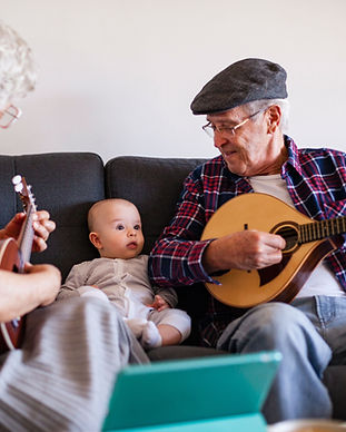 Playing Music for Baby
