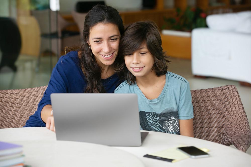 Likable Kids' Stuff | likable.com.au | Mum helping son with homework