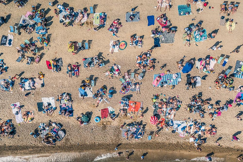 Crowded Summer Beach
