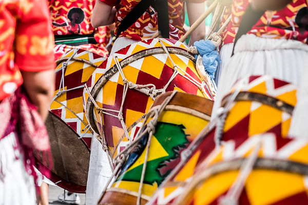 Colorful Drummers