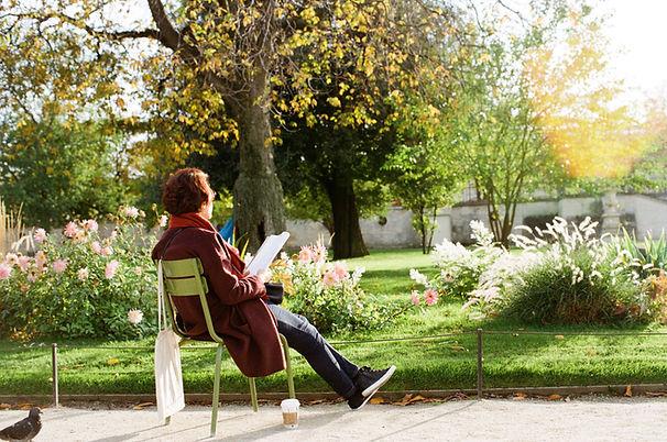 Leser utenfor
